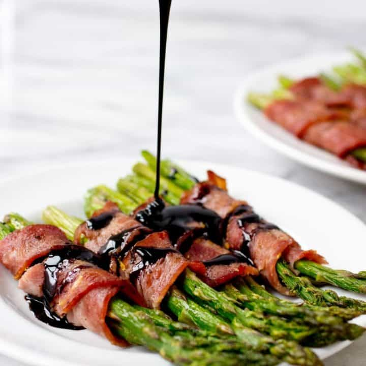 Bacon Wrapped Asparagus with Balsamic Reduction