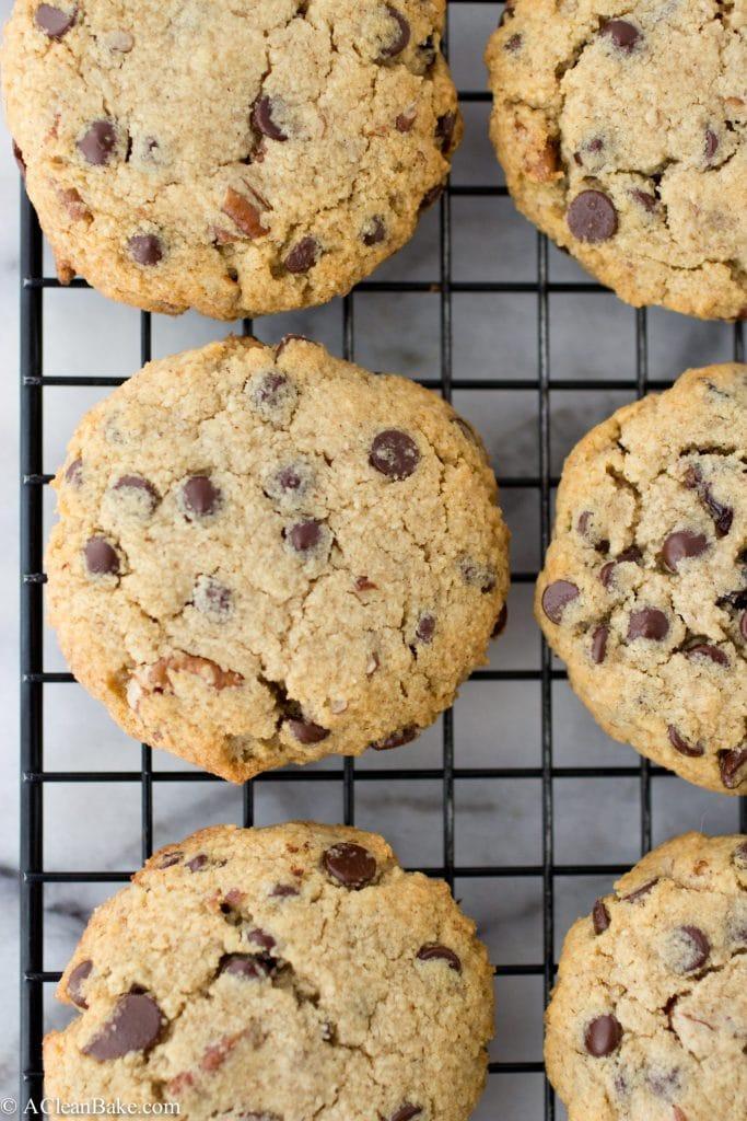 Grain-Free Chocolate Chip Cherry Ginger Cookies (Paleo, Gluten-free, Naturally-Sweetened)