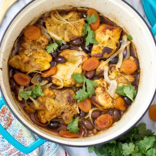 Braised Turmeric Chicken with Apricots and Olives (Gluten-Free, Grain-Free, Paleo)