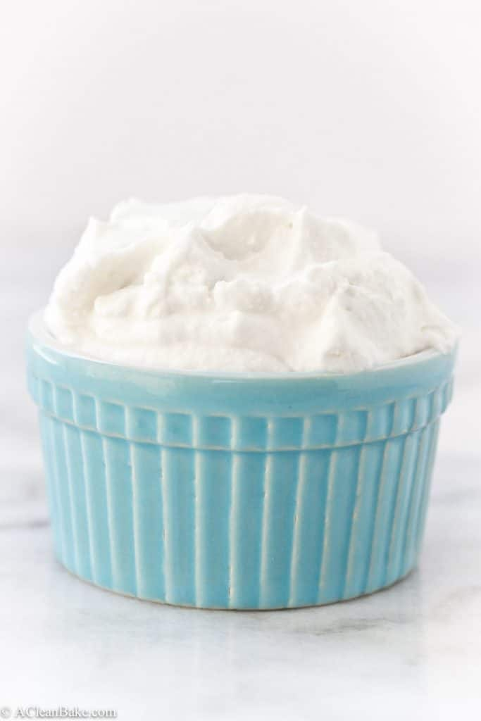 Paleo and Vegan Whipped Cream