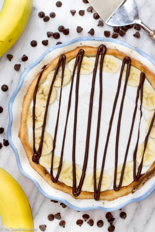 Nutella Banana Cream Pie (Gluten Free and Paleo)
