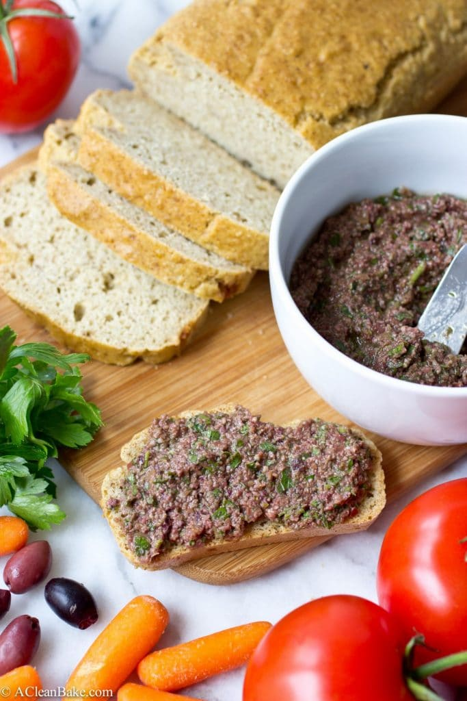 Olive Tapenade (Anchovy-Free, gluten-free, grain free, vegan and paleo)
