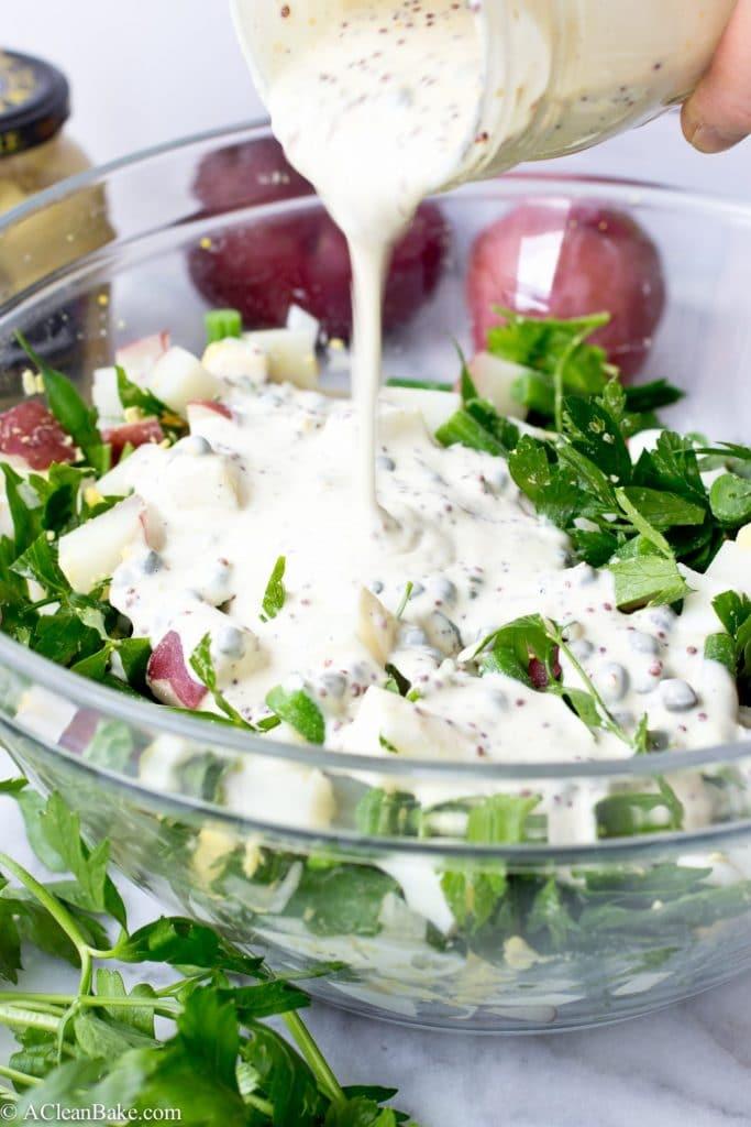 Dijon, Caper and Green Bean Potato Salad (gluten-free, grain-free, and paleo) will perk up any summer BBQ menu!