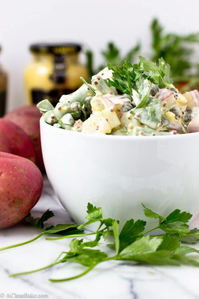Dijon, Caper and Green Bean Potato Salad (gluten-free, grain-free, and paleo) will perk up any summer BBQ menu!