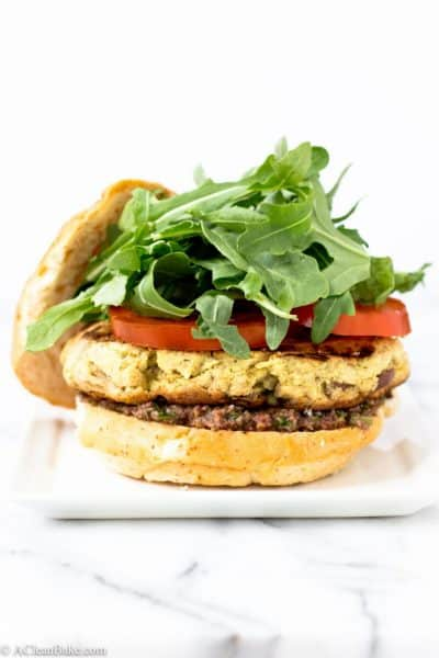 Lemon Dijon Tuna Burger (Gluten Free and Paleo)