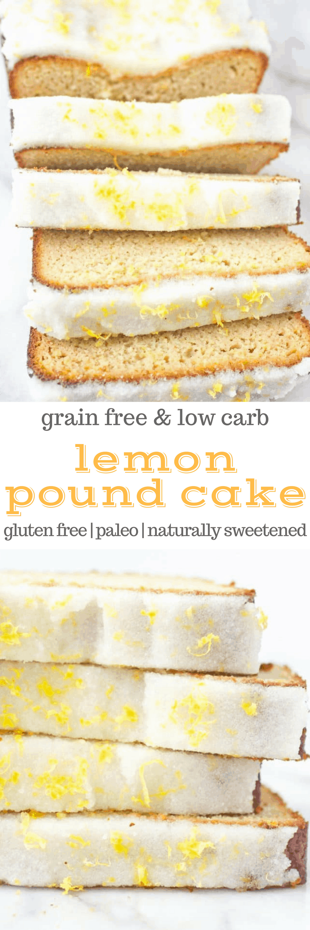#Paleo Lemon Pound Cake makes a beautiful addition to brunch or breakfast. This recipe is easy to make, with only one bowl, and also makes a great dessert, too! This recipe is always a hit - winter, spring, summer, or fall. (#glutenfree, #lowcarb, #naturallysweetened)