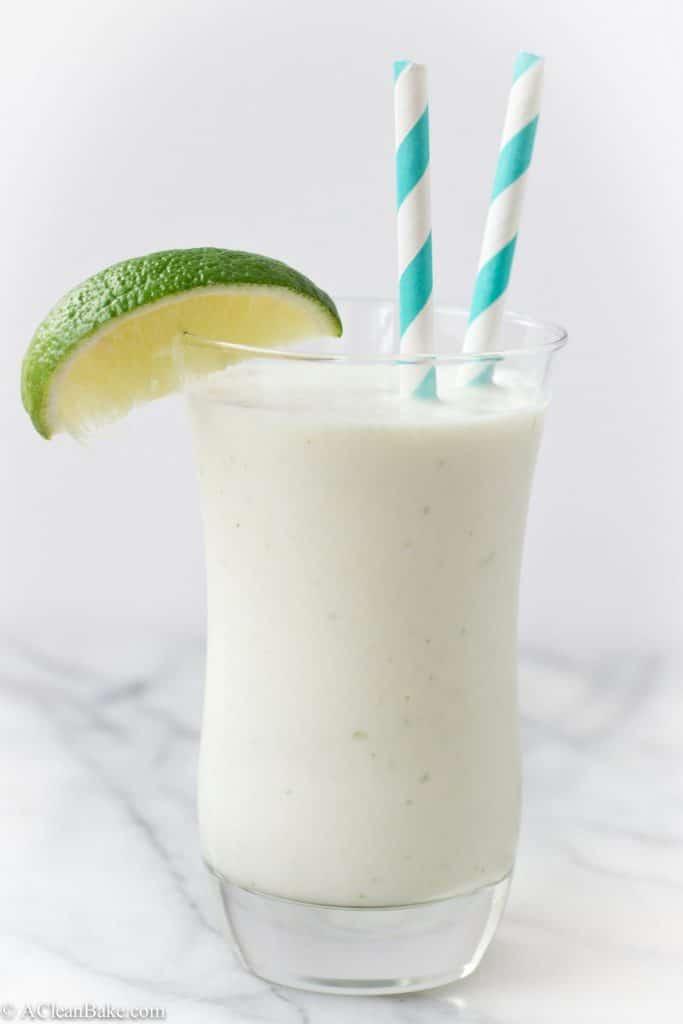 Coconut Lime White Chocolate Milkshake (Vegan, Paleo and Gluten Free)
