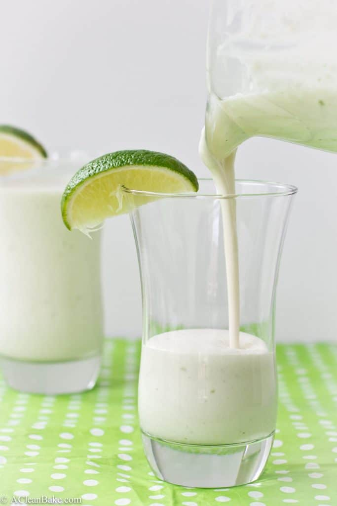 Coconut Lime White Chocolate Milkshake (Vegan, Paleo and Gluten Free)