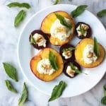 Grilled Peaches and Beets with Honeyed Ricotta and Mint (Gluten free, vegan, paleo and grain free)