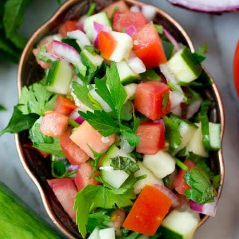 Jerusalem Salad (aka Middle Eastern Salad)