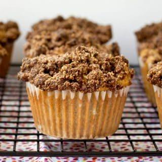 Rhubarb Coffee Cake Muffins (gluten-free, dairy-free, refined sugar-free and paleo!)