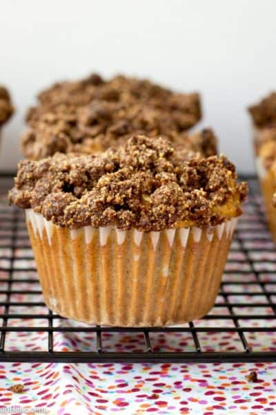 Rhubarb Coffee Cake Muffins (Gluten Free and Paleo)