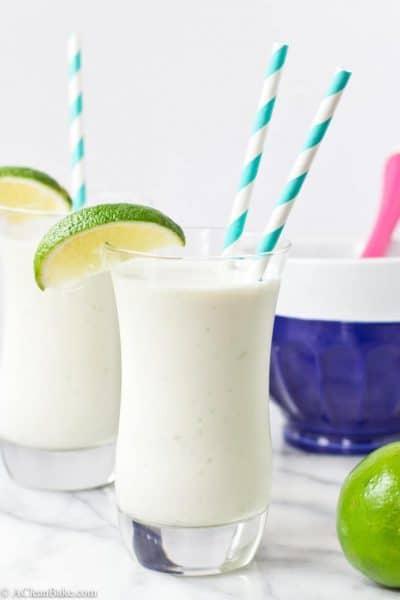 Coconut, Lime and White Chocolate Milkshake (Gluten Free and Paleo)