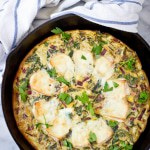 One-Pan Baked Brie and Beet Greens Frittata