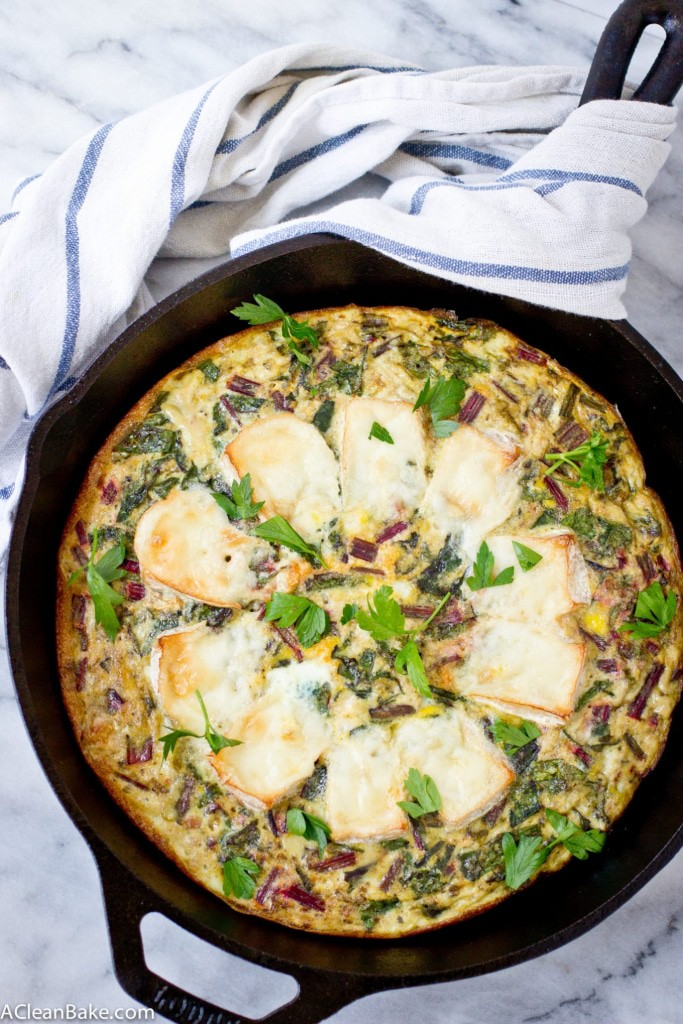Baked Brie and Beet Greens Frittata