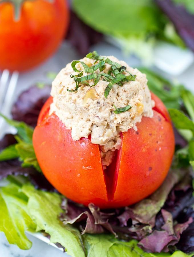 Tahini, Walnut and Caramelized Onion Chicken Salad