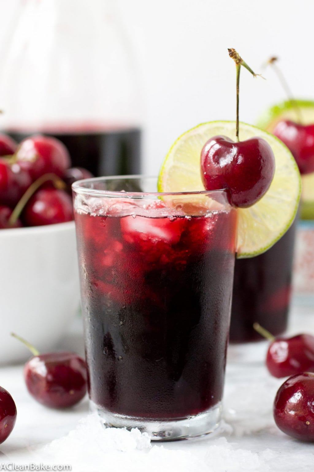 Cherry Lime Slushie (Gluten Free and Paleo)