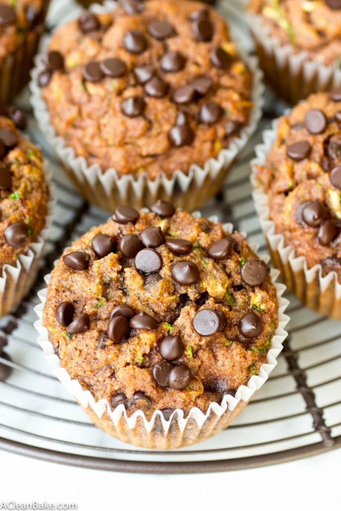 Chocolate Chip Zucchini Muffins (gluten free, paleo, vegan-adaptable)