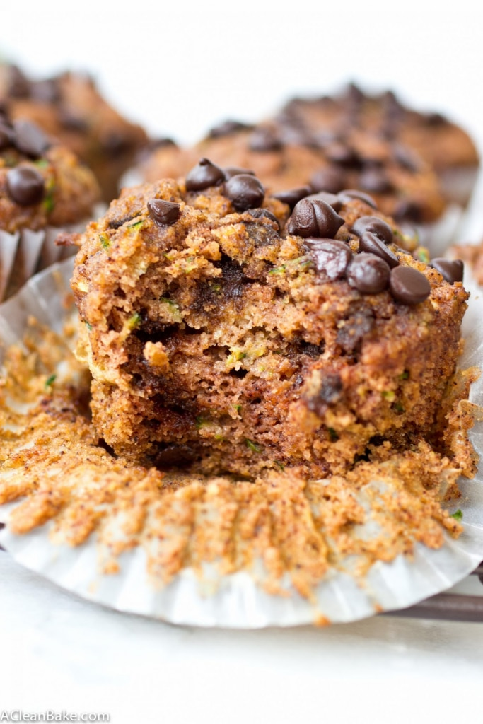 Chocolate Chip Zucchini Muffins (gluten free, paleo, vegan-adaptable)