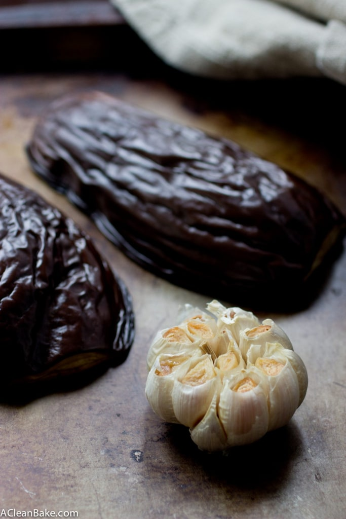 IMG_949Roasted Garlic Babaganoush (gluten free, grain free, vegan and paleo friendly)