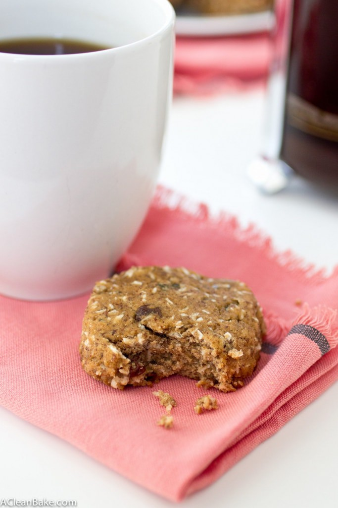A wholesome breakfast cookie that the whole family will love. It is grain free, nut free, and refined sugar free, too!
