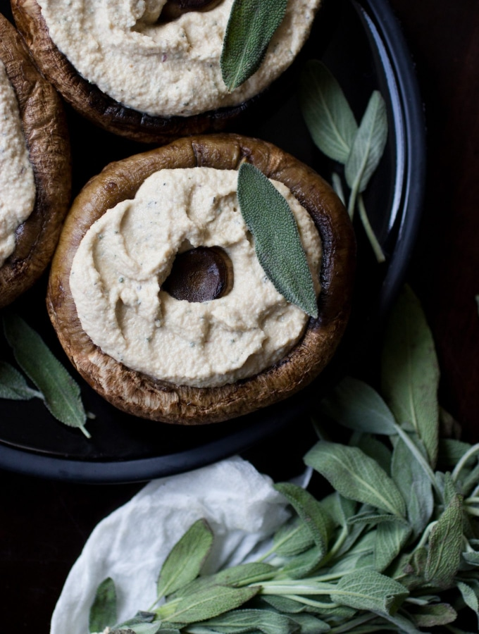 Ricotta and Sage Stuffed Portobello Mushrooms