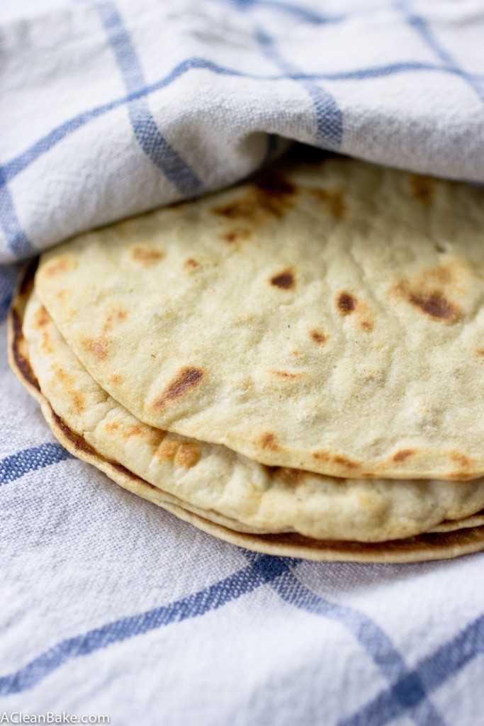Grain free tortillas are easy to make with a few simple ingredients and a pan. Now you can have tacos again! These are nut free, gluten free, and paleo friendly, and can also be made egg free and vegan.