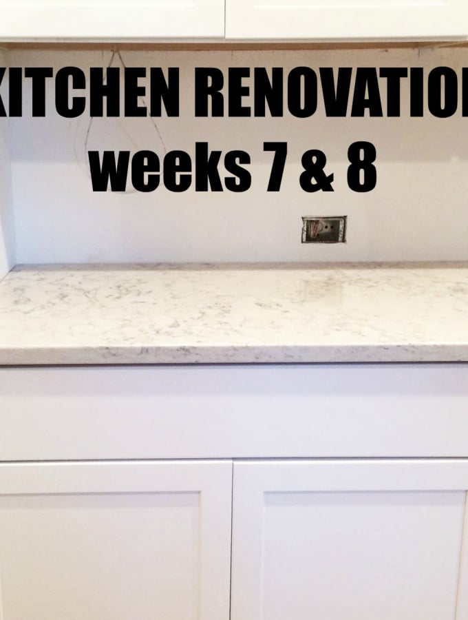 Kitchen Renovation: Weeks 7 & 8
