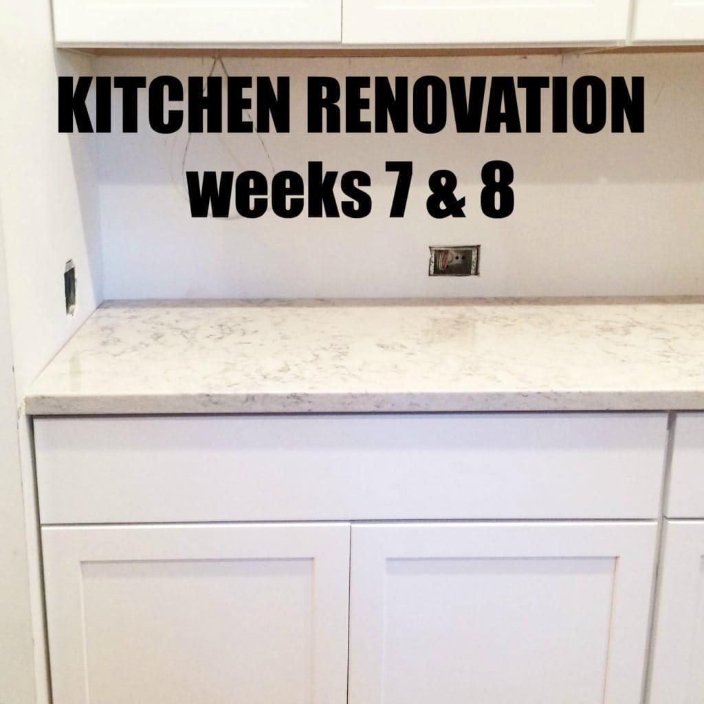Kitchen Renovation: Weeks 7 & 8