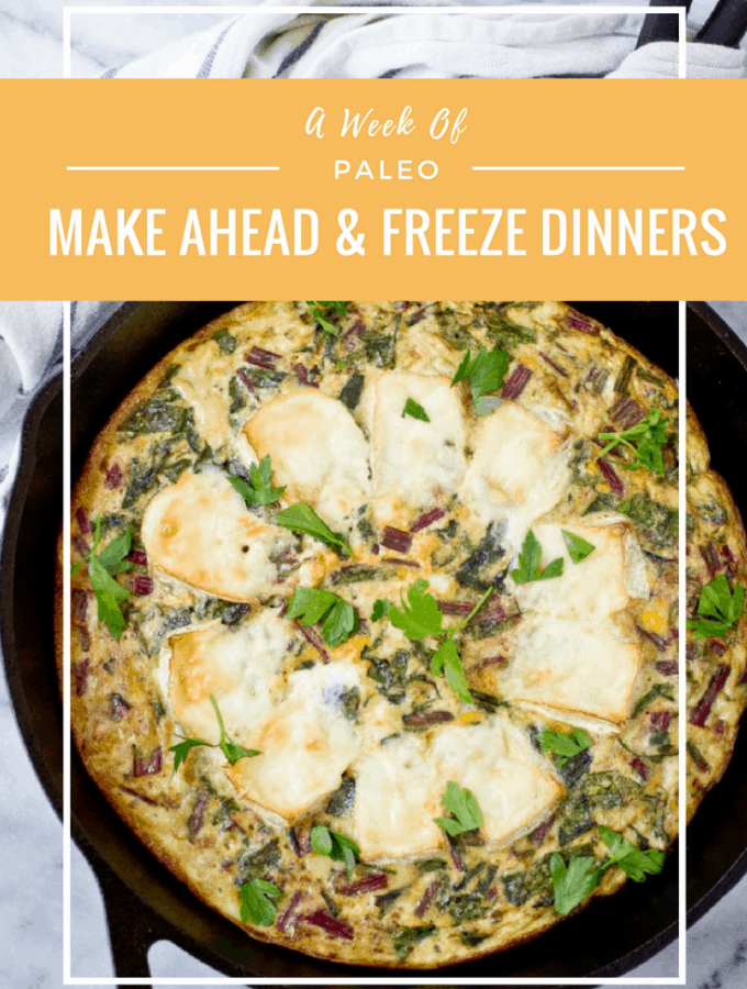 A Week of Make-Ahead Paleo Freezer Dinners