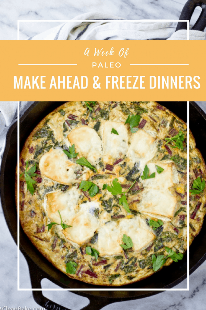 Freezer friendly make ahead gluten free and paleo dinners