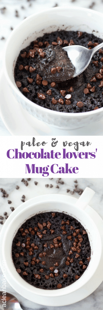 This super paleo fudgy mug cake is for all you chocolate lovers out there! It's hard to believe it's secretly HEALTHY! (#glutenfree #grainfree #paleo #vegan #lowcarb)