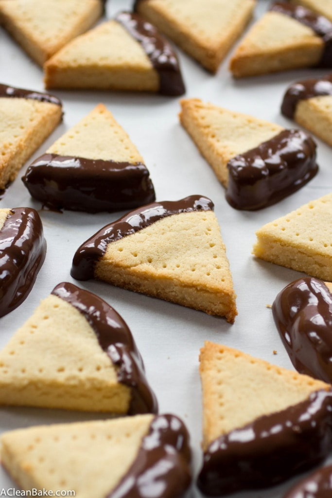 IThe perfect classic shortbread, dunked in silky dark chocolate. You'd never guess they're gluten and grain free!