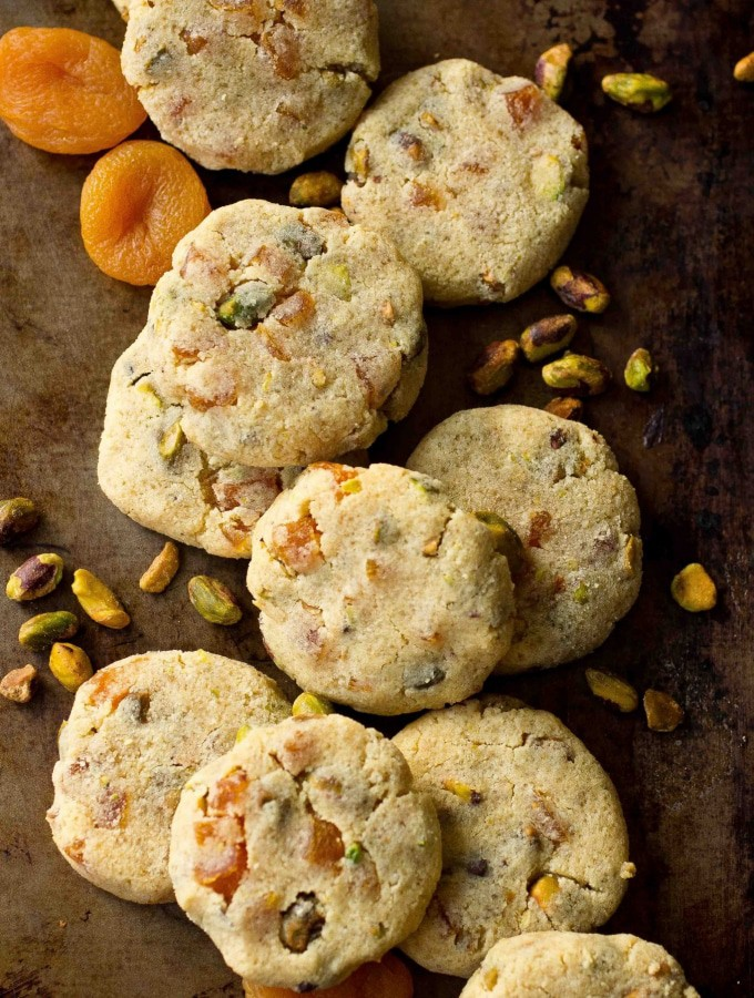 Apricot Pistachio Cookies (Gluten Free and Paleo)