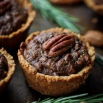 Grain free and naturally sweetened mini pecan pies are perfect for your next party!