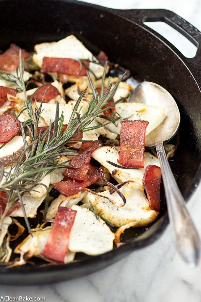 Maple Roasted Turnips with Bacon and Crispy Shallots