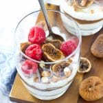 Fig and Date Breakfast Parfait - a great way to start your day, it's filling, good for you, and naturally sweetened with no refined sugar (gluten free, grain free, and paleo-friendly too)