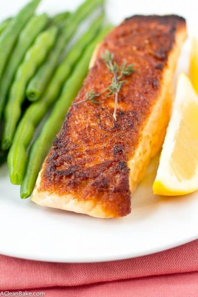 How To Make Perfect Seared Salmon: It's Easy Enough For Weeknights! (Gluten Free, Paleo, and Whole30)