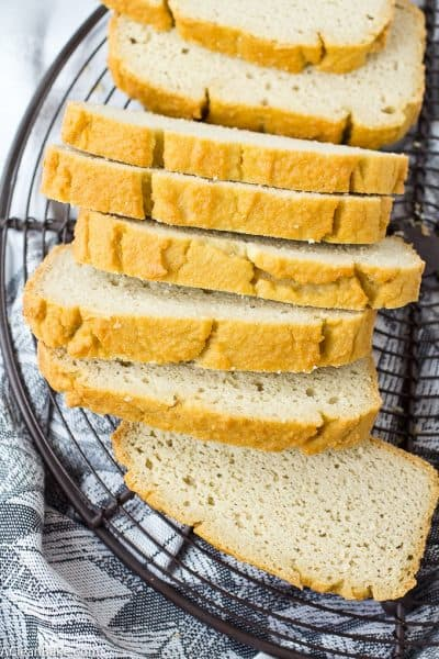 Low carb and grain free sandwich bread that you can make in the blender! (gluten free and paleo)