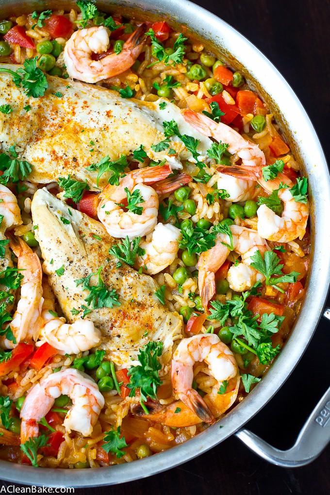 Paella AKA The One Pan Wonder Dinner (Gluten Free and Paleo)