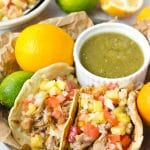 Crockpot Carnitas with Pineapple Salsa