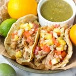 Moist and succulent carnitas that you can make in the crockpot! (gluten free, low carb and paleo friendly)
