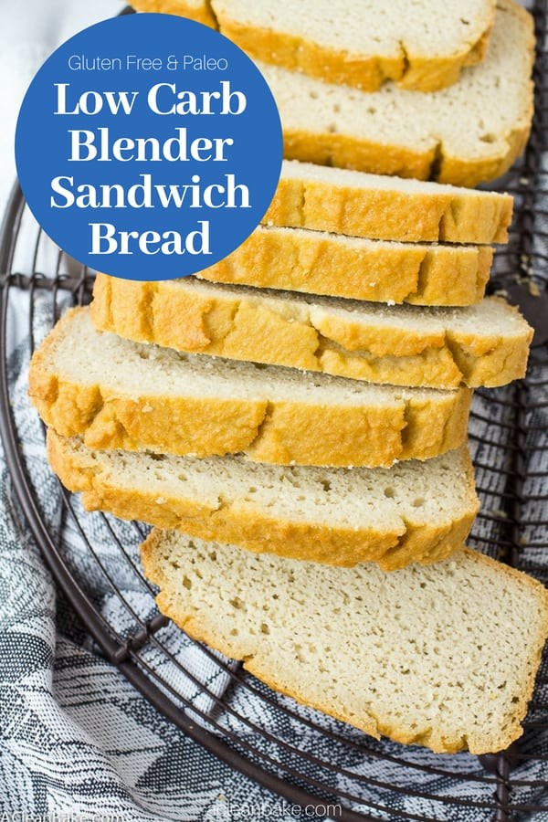 Low Carb Sandwich Bread (Make It In the Blender!) #glutenfree #glutenfreebread #glutenfreerecipes #paleo #paleobread #paleorecipes #lowcarb #lowcarbrecipes #lowcarbbread #healthyrecipes #healthybread #easyrecipes #homemadebread