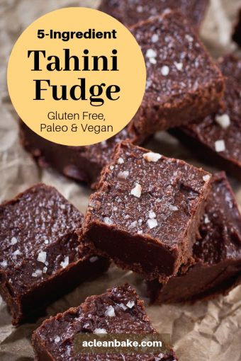 Healthy 5-Ingredient Tahini Fudge (Gluten Free, Paleo, and Vegan) #healthydessert #easyrecipe #healthyrecipe #healthytreats #glutenfree #paleo #vegan #glutenfreedessert #glutenfreerecipe #paleodessert #paleorecipe #vegandessert #veganrecipe