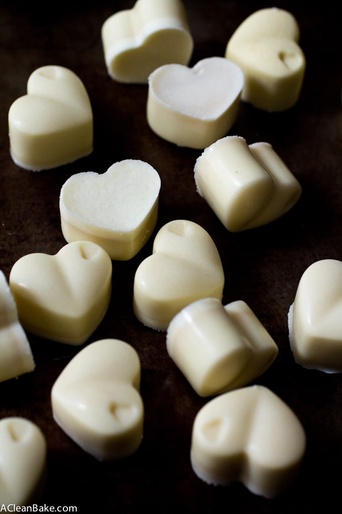 Homemade Sugar Free White Chocolate (gluten free, paleo-ish)