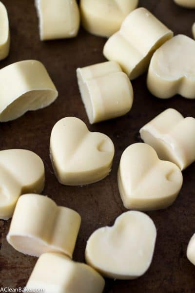 Homemade Sugar Free White Chocolate (gluten free, paleo)