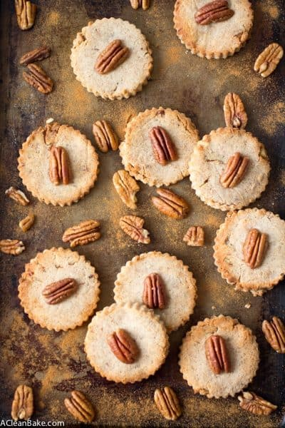 Cinnamon Pecan Shortbread - a grain free, low carb and lightly sweetened morning snack!
