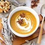 Creamy Dairy Free and Paleo Pumpkin Sage Soup