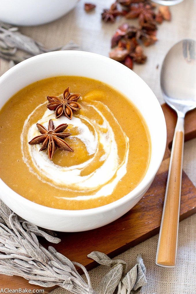 Creamy Dairy Free and Paleo Pumpkin Sage Soup
