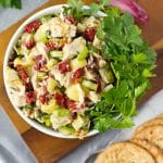 Easy Mediterranean Tuna Salad made from simple pantry and fridge ingredients! (guten free, grain free, paleo friendly, low carb, high protein)